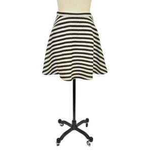 Greylin Black White Striped Skirt Size 10